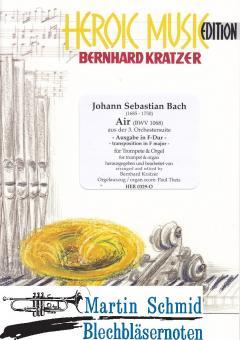 Air aus der 3.Orchestersuite (Ausgabe für Horn in F oder Flügelhorn in Bb)