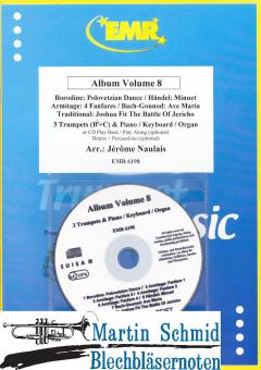 Album Volum 8 (3 Trumpets (Bb+C) & Piano/Keyboard/Organ or CD Play Back/Play Along(optional) Drums+Percussion(optional))