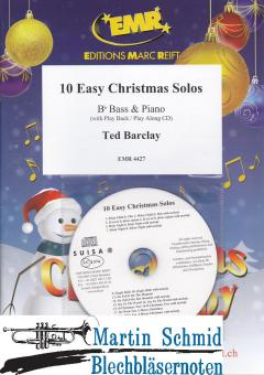 10 Easy Christmas Solos (Piano + Play-Along-CD)(Tuba in Bb)