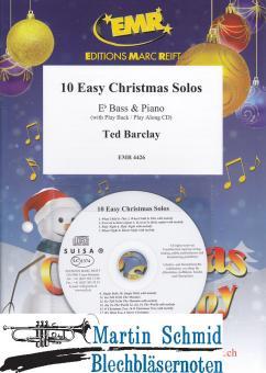 10 Easy Christmas Solos (Piano + Play-Along-CD)(Tuba in Eb)