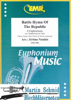 Battle Hymn of the Republic (4 Euphoniums/3 Euphoniums + Tuba.optional Piano,Guitar.Bass Guitar.Drums)