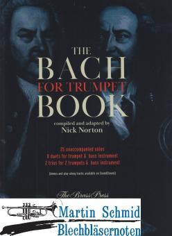 The Bach Book - 25 solos, 8 duets, 2 trios für Trompete und Bassinstrument (Neuheit Trompete)