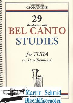 29 Bordogni like Bel Canto Studies (Neuheit Tuba)