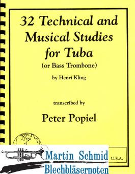 32 Technical and Musical Studies for Tuba or Bass Trombone