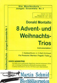 8 Advents- und Weihnachts-Trios (kombinierbar mit anderen Instrumenten)